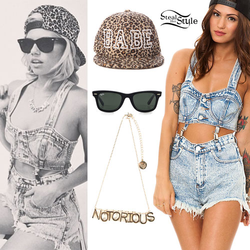 Chanel West Coast: Denim Romper Outfit