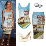 Ciara: Motel Print Bodysuit & Skirt