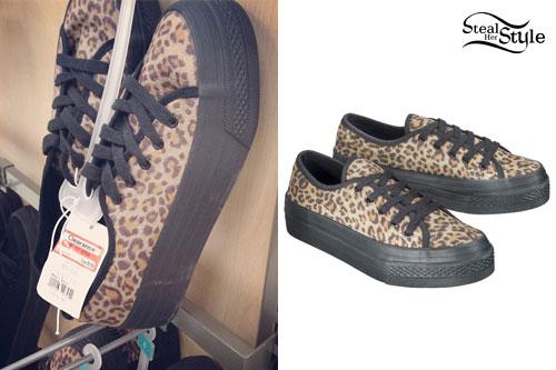 "02206d299b8 Hayley Williams  Leopard Platform Sneakers. """