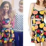 Jade Thirlwall: Fruit Print Top & Skirt