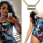 Jessica Jarrell: Advisory Necklace, Graffiti Bodysuit