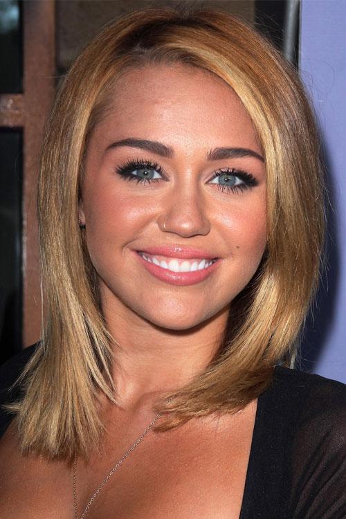 More Pics of Miley Cyrus Medium Straight Cut (4 of 51 ... |Miley Cyrus Shoulder Length Hair 2012