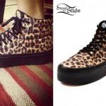 Tay Jardine: Leopard Platform Vans Sneakers