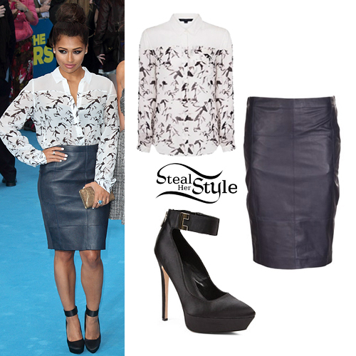 Vanessa White: Leather Skirt, Horse Print Shirt