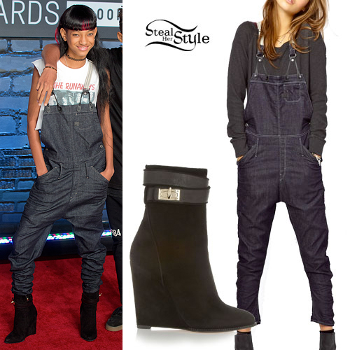 Willow Smith: 2013 VMA Denim Overalls Outfit