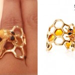 Beyonce: Honeycomb Bee Ring