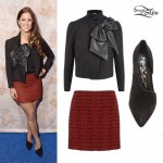 Cassadee Pope: Leather Bow Jacket Outfit