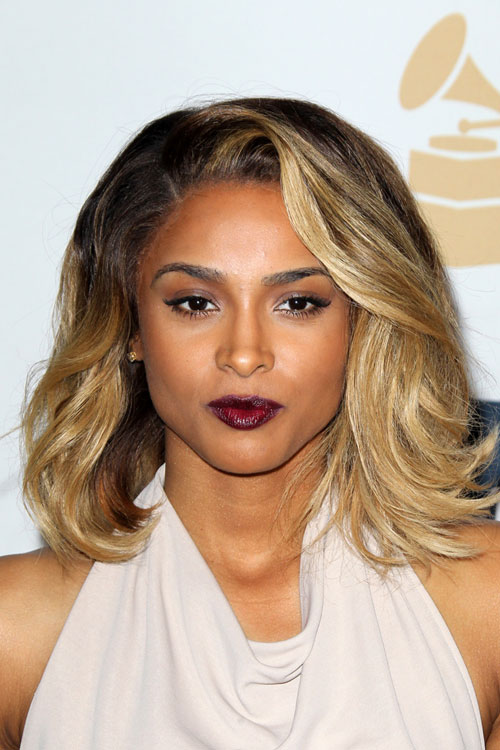 ciara wavy honey blonde ombr233 hairstyle steal her style