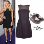 Ellie Goulding: Mesh Dress Outfit