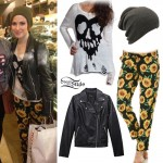 Hayley Williams: Heart Skull Sweater, Sunflower Pants