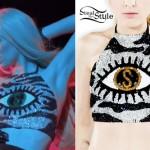 Iggy Azalea: Sequin Eye Crop Top