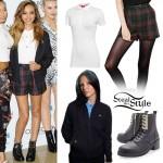 Jade Thirlwall: Tartan Shorts, Black Boots