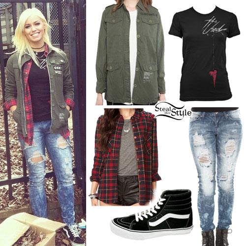 Jenna McDougall: Army Jacket, Destroyed Jeans