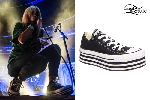Jenna McDougall: Platform Converse Sneakers | Steal Her Style