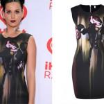 Katy Perry: Rose Print Dress, Black Sandals