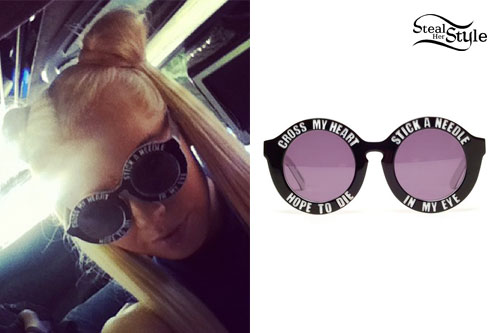 "Kerli: ""Cross My Heart"" Sunglasses"