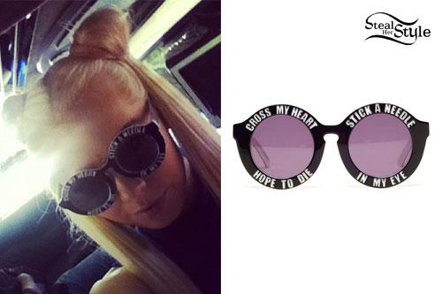 "Kerli: ""Cross My Heart"" Sunglasses"