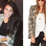 Madison Beer: Camouflage Jacket