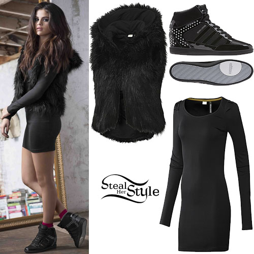 buy good closer at good texture Selena Gomez: Adidas NEO Photoshoot | Steal Her Style