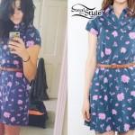 Tay Jardine: Belted Floral Dress