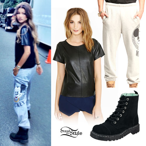 Zendaya Mickey Mouse Sweatpants Steal Her Style