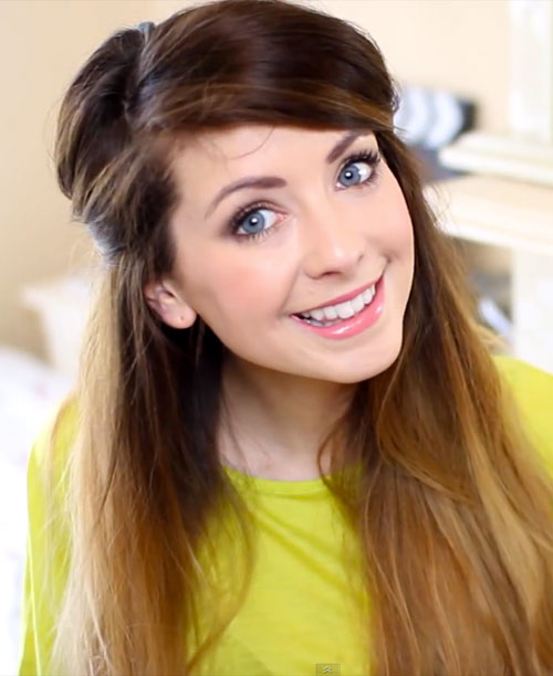 zoella-hair-half-up