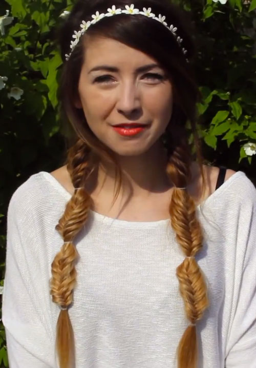 zoella-hair-pigtail-braids