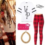 Allison Green: VIP Top, Plaid Leggings