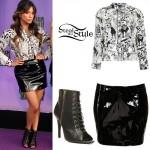 Ally Brooke: Halloween Shirt, Black Skirt