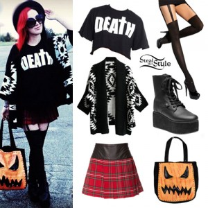 Ash Costello: Tribal Cardigan, Death Tee