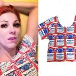 Bonnie McKee: Budweiser Crop Top