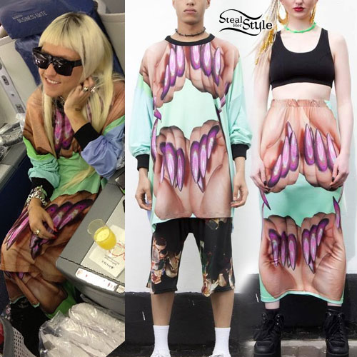 Brooke Candy: Nails Sweater & Skirt