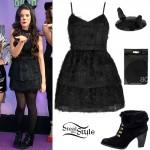 Camila Cabello: Black Dress, Cat Hat