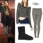 Christina Perri: Peace Sign Leggings