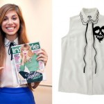 Christina Perri: Scalloped Collar Blouse