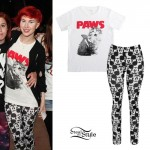 Hayley Williams: Paws T-Shirt, Mickey Leggings