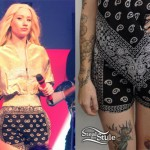 Iggy Azalea: Bandana Print Shorts