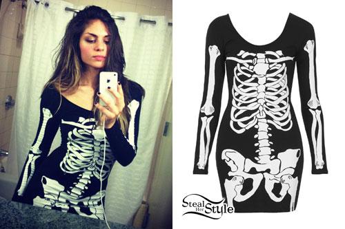 Jahan Yousaf: Skeleton Bodycon Dress