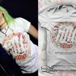 Jenna McDougall: Floral Circle T-Shirt