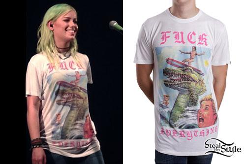 Jenna McDougall: Dinosaur Surfboard TeeJenna McDougall: Dinosaur Surfboard Tee