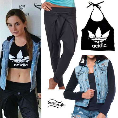 JoJo Levesque: Acidic Halter, Athletic Pants