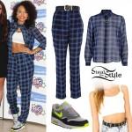 Leigh Anne Pinnock: Blue Check Shirt & Pants