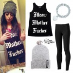 Melissa Marie Green: Meow Tank Top Outfit