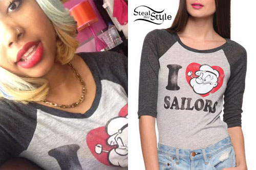 Zonnique Pullins: Popeye Baseball Tee