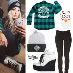 Allison Green: Wedge Sneakers, Flannel Shirt