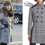 Ally Brooke: Plaid Fit-and-Flare Coat