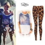Anissa Rodriguez: Doll Head Top, Leopard Leggings