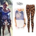 Anissa Rodriguez: Doll Head Top, Leopard Leggings