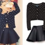 Ariana Grande: Pearl Cardigan, Circle Skirt