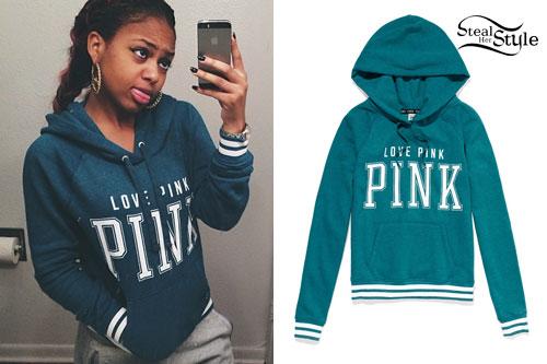 Bahja Rodriguez: Pink Hoodie